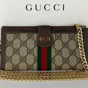 Vintage GUCCI Sherry Line GG Wallet on Chain